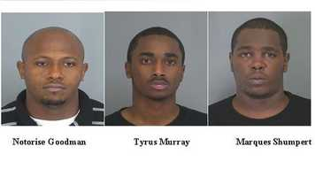 Notorise Goodman, Tyrus Murray, Marques Shumpert: Accused in drive-by shootings