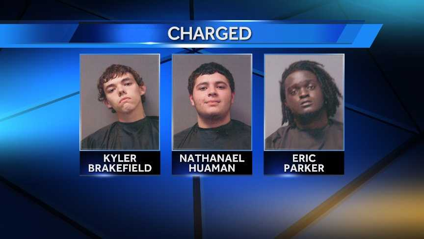 Three teenagers are accused of using a machete to rob a convenience store in Cherokee County.