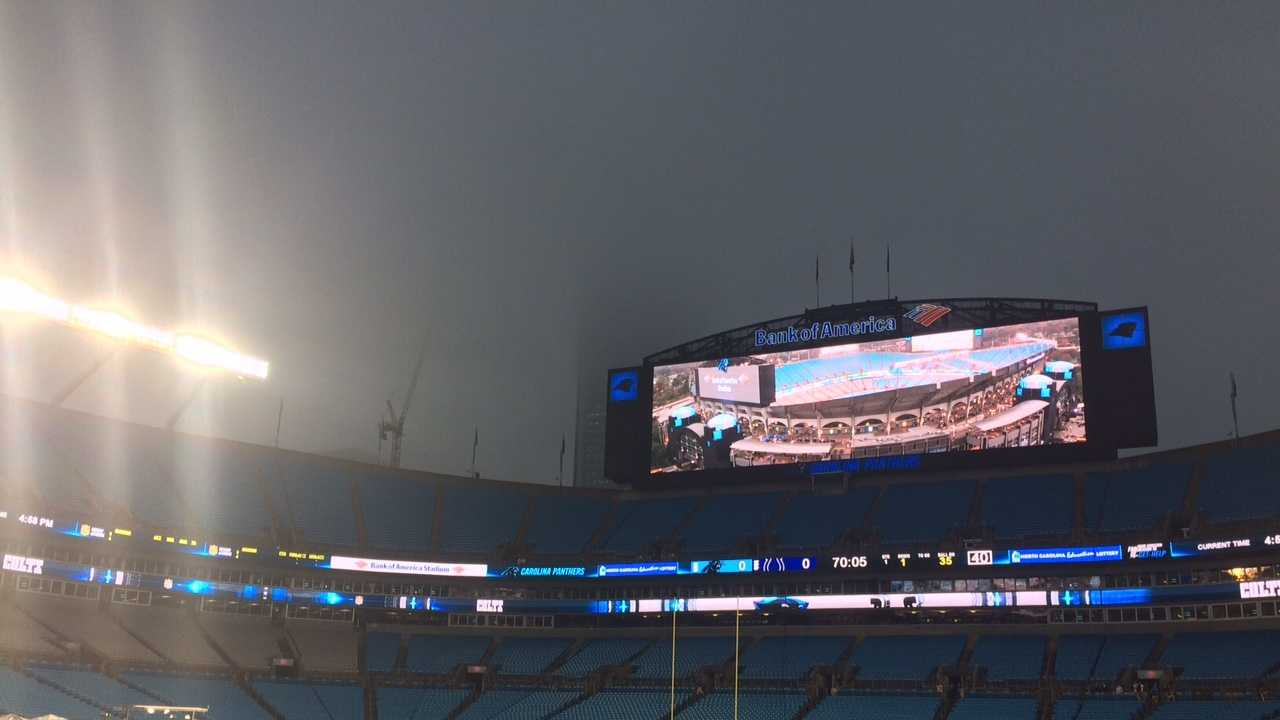 Monday Night Football: Indianapolis and Carolina squared off at a rainy Bank of America Stadium in Charlotte.
