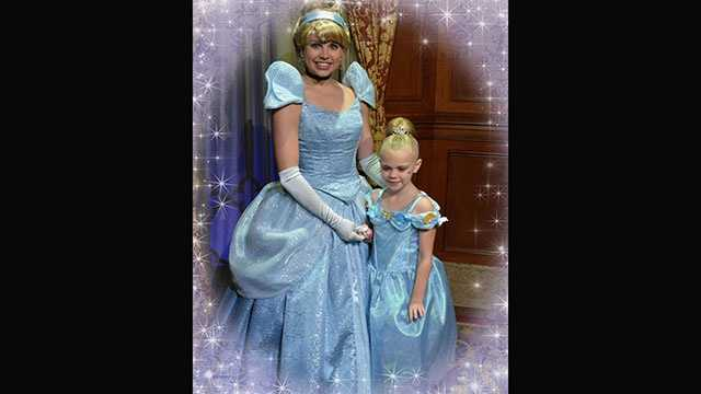Sarah Clark gets wish granted of meeting Disney princesses before she loses her eyesight.