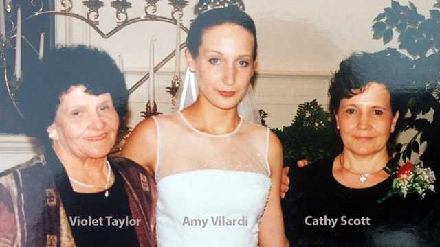 Homicide victim Violet Taylor, her granddaughter, Amy Vilardi, and Amy's mother, homicide victim Cathy Scott