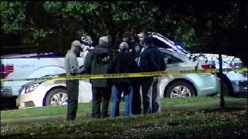 Pictures from the scene of the shooting on the campus of Spartanburg Methodist College Monday night.