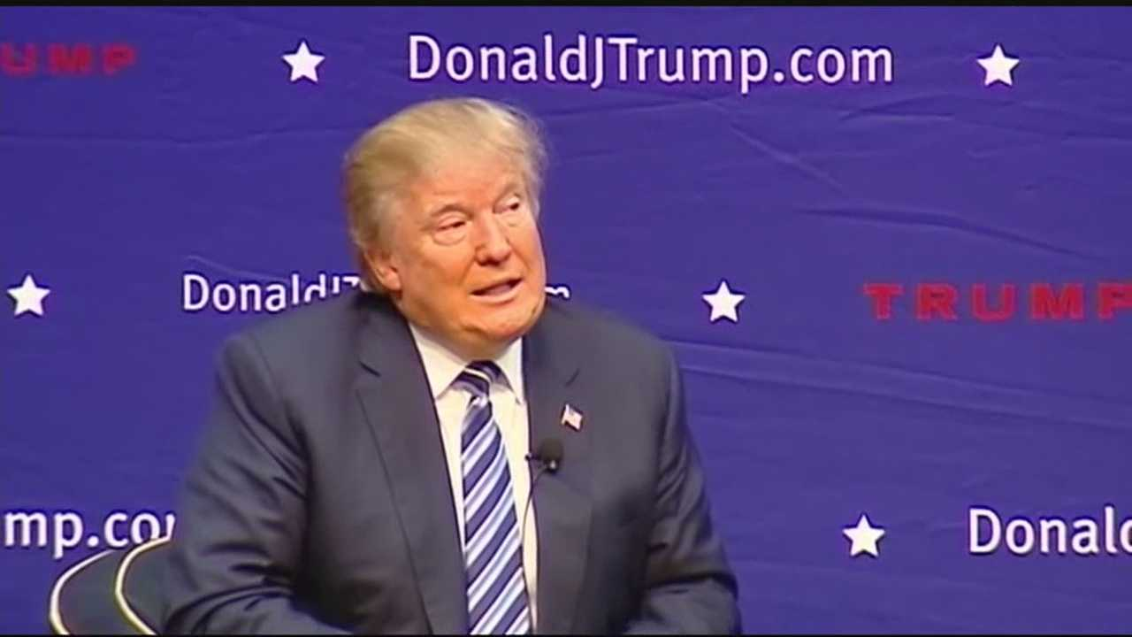 Republican presidential candidate Donald Trump talks about his plan to keep the U.S. secure if he becomes president.