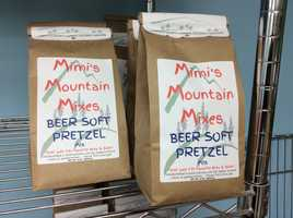 Beer Soft Pretzel is Mimi's newest flavor... soon to be on store shelves.