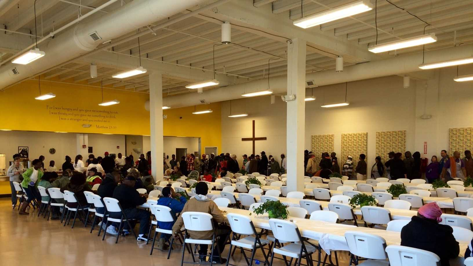 The Spartanburg Soup Kitchen fed a larger than normal crowd on Thanksgiving Day.