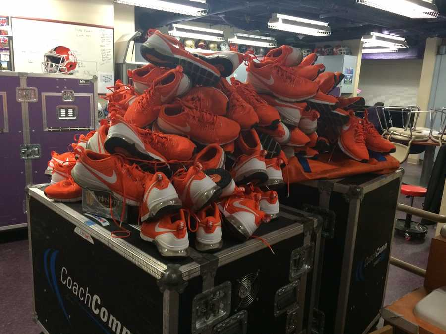 Coaches shoes to be packed.