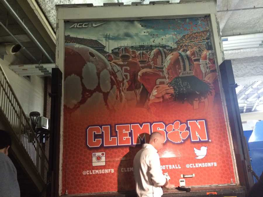 Everything is packed into this truck and is driven to away games.