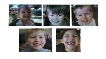 The Jones children: Merah, 8 Elias, 7 Nahtahn, 6 Gabriel, 2 Abigail 1