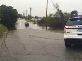 Vehicle stuck on Key Road, Columbia