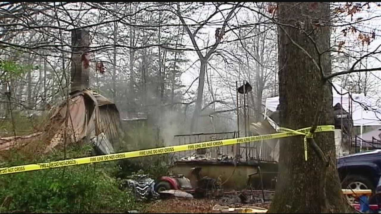 Relatives say a family of three died when a fire destroyed their North Carolina home.
