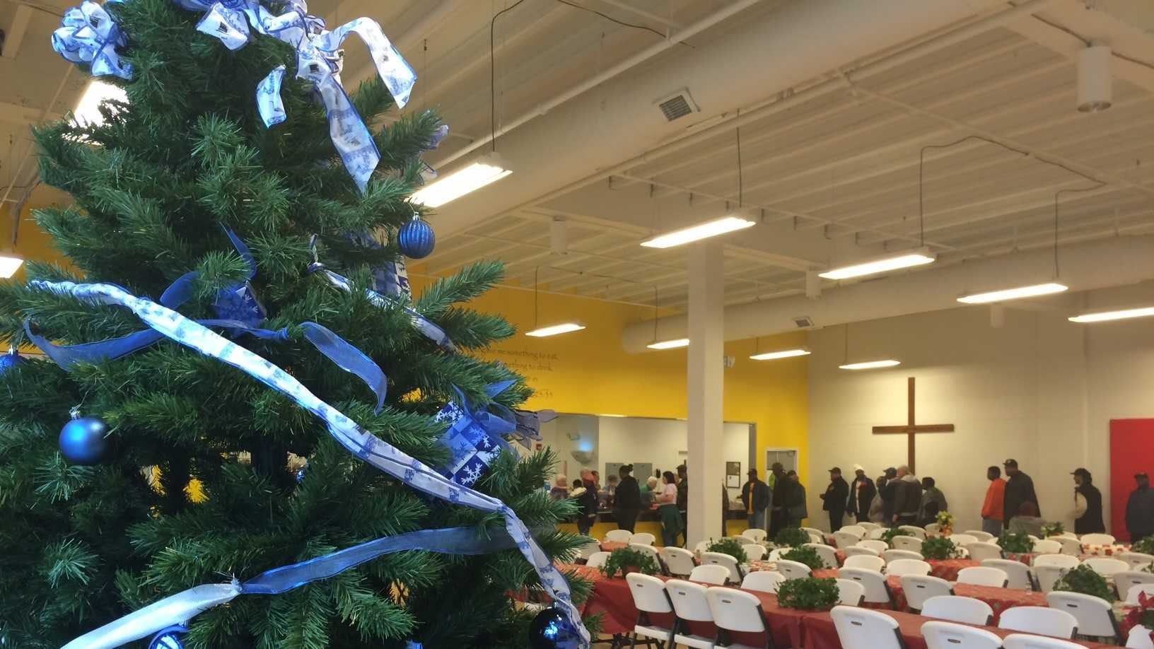 The Spartanburg Soup Kitchen provides meals and presents on Christmas Eve and Christmas Day.