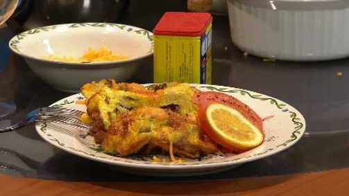 Jeff Bannister demonstrates how to make a strata using leftover food from the holidays.