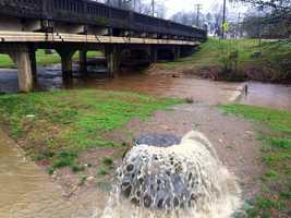 Sewage drain overflowing in Williamston