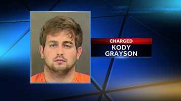 Kody Grayson: charged with larceny of a motor vehicle