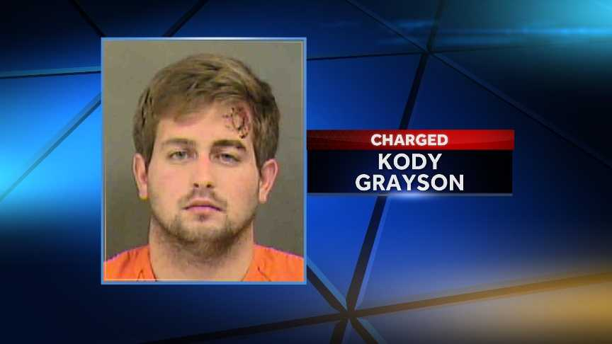 Kody Grayson:charged with larceny of a motor vehicle