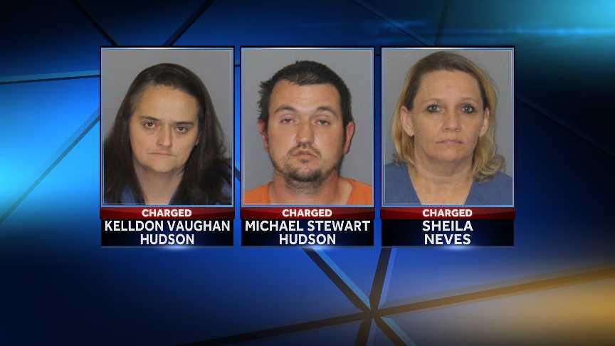 Kelldon Hudson, Michael Hudson, Sheila Neves: Hudson'scharged with custodial interference, unlawful neglect toward a child and obstruction of justice&#x3B; Neves charged withcontributing to the delinquency of a minor.
