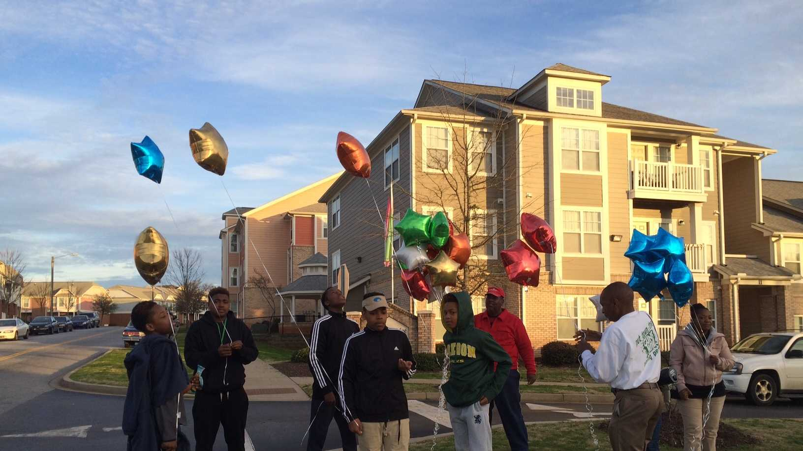 Local group releases balloons in memory of Cobey Smith.