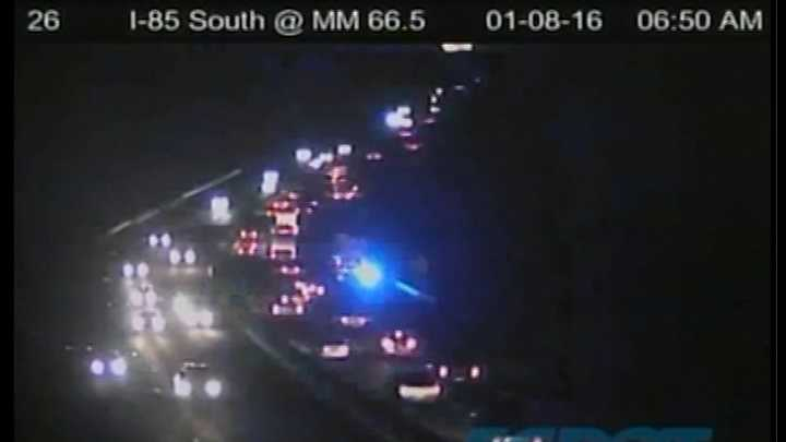 Wreck on I-85 slowing traffic near Highway 29