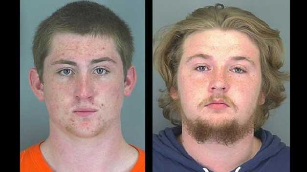 Spencer Chastain and Anthony Taylor: Accused of assault and strong-armed robbery