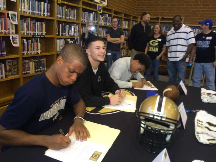 Greer HS - FootballTroy Pride - Notre DameMario Cusano - Presbyterian CollegeDorian Lindsey - Wofford