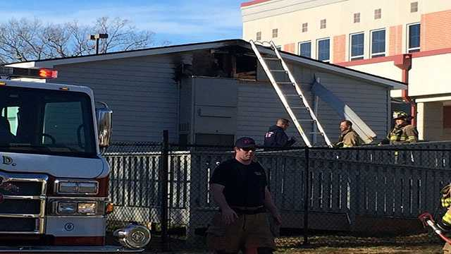 Portable unit catches fire at Cherrydale Elementary