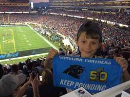 This Carolina fan's making memories for life.