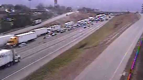 The wreck was reported Monday about 2:30 p.m. on I-85 between Highways 29 and 290 in Spartanburg County.
