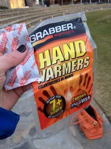Gabrielle Komorowski needed some hand warmers and the Greenville police helped her out.