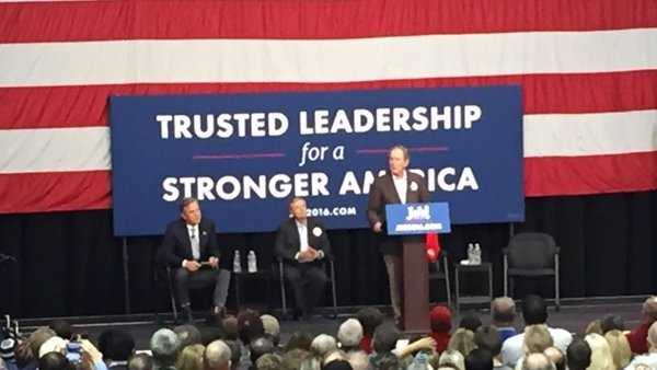George W. Bush speaks at Jeb Bush rally to strengthen brother's campaign