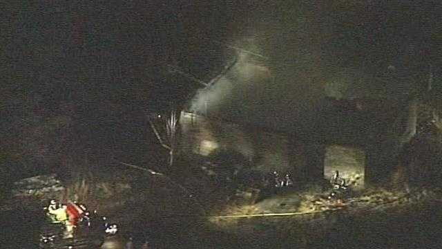 Crews are battling a fire in Powdersville