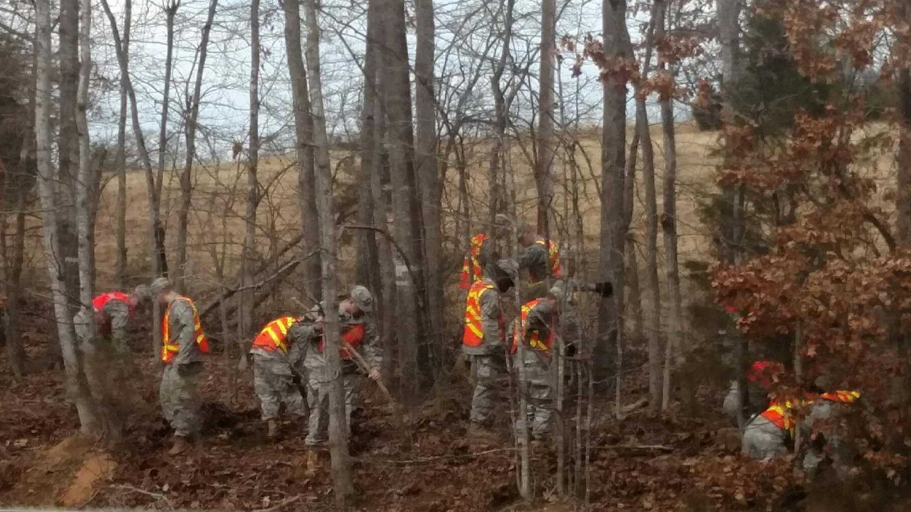 National Guard Members Search Near Iva