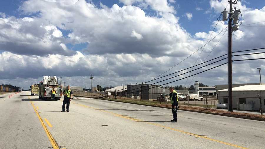 Southport power poles down