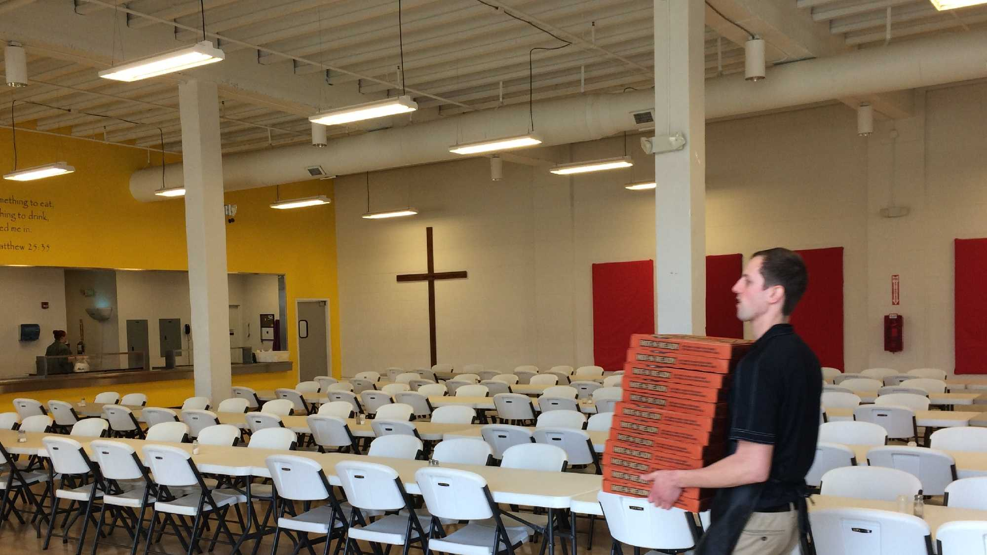 Little Caesars baked and boxed 120 pizzas at the Spartanburg Soup Kitchen to help the charity celebrate its 34th anniversary.