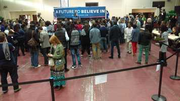 Sen. Bernie Sanders appeared at Claflin University in Orangeburg on Friday.