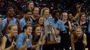 The Christ Church Lady Cavaliers are the 1A girls basketball state champs for the second consecutive season.