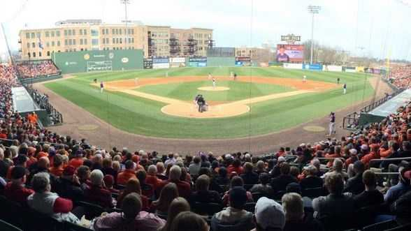 The Clemson Tigers and the South Carolina Gamecocks renewed college baseball's best rivalry at Fluor Field in downtown Greenville.