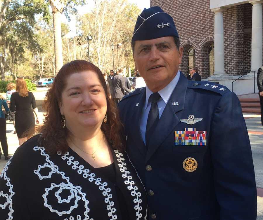 Shannon Faulkner and Citadel President John Rosa