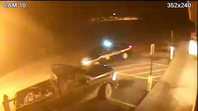 The Greenville County Sheriff's Office released a surveillance camera image of a man and a pickup that investigators say hit a deputy as it fled.