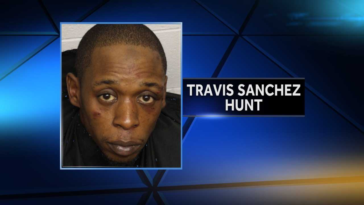 Hunt was taken into custody after leading deputies on a weekend chase