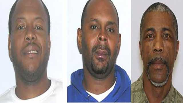 From left to right: Brandon Browning charged with distribution of crack cocaine&#x3B; Dennis Alexander (see article for charges&#x3B;) James Gilliam, charged with distribution of crack cocaine.