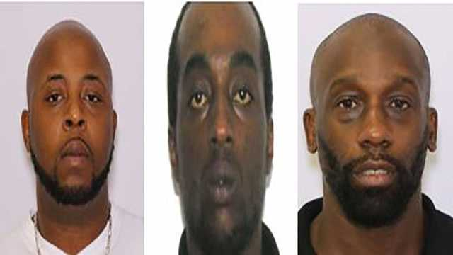 From left to right: Joshua Gilliam charged with distribution of crack cocaine&#x3B; Jamill Higgins charged with  distribution of crack cocaine&#x3B; Michael Goggins charged with  distribution of crack cocaine.