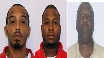 From left to right: Martin Neal charged with distribution of crack cocaine&#x3B; Tavis Jeter charged with distribution of crack cocaine&#x3B; John Gilliam charged with distribution of crack cocaine