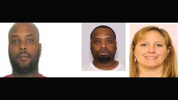 The following people are still wanted on narcotics distribution charges (from left to right:) Octavious Gilliam, Franklin Higgins, Laura Combs