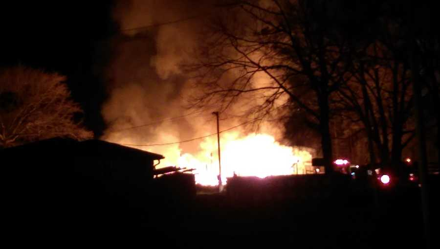 News 4 viewer Kathyern Lane took a picture of the fire on Hunts Bridge Road.