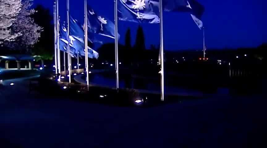 Flag at BJU are flying at half staff in honor of Officer Jacobs