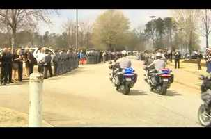 The processional to the graveside service