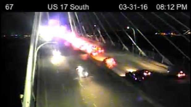 Police: 2 shot on Ravenel Bridge, northbound lanes reopen