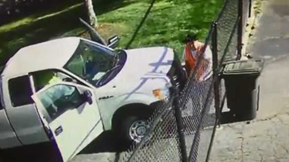 A reported burglary caught on camera has nearly 40,000 views on Facebook.