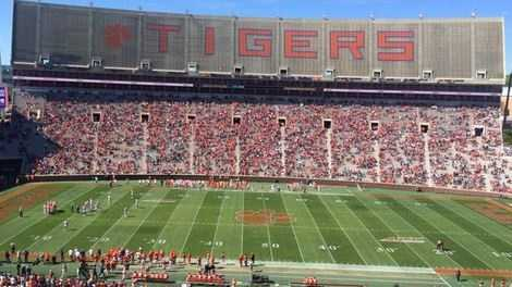 50,000 Tiger fans enjoyed Clemson's spring football game at Death Valley.