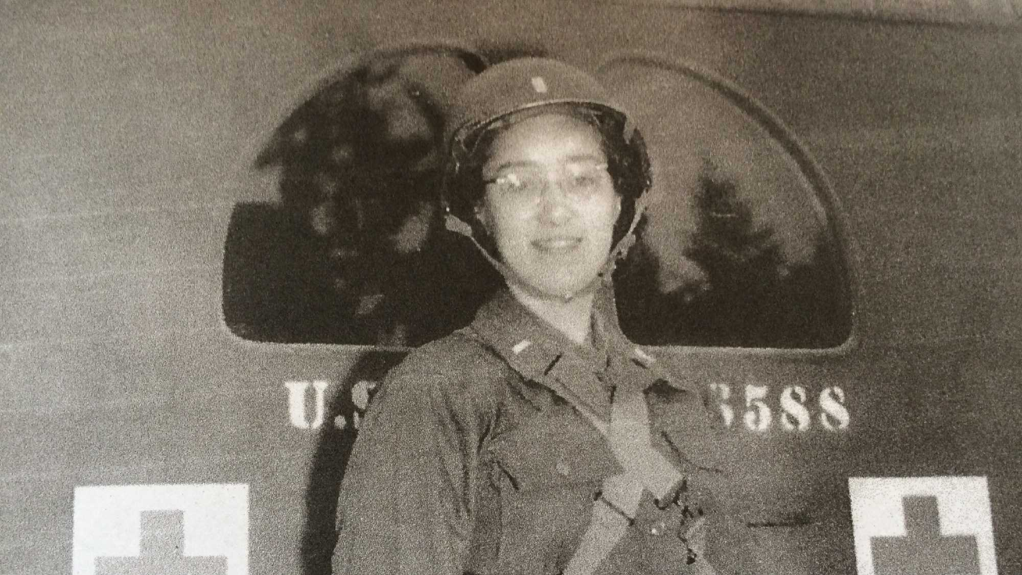 Dorothy Managan, now 93, as an Army nurse in the 1940s